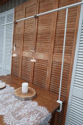 Barre de décoration de table blanche