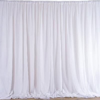 Rideau drapé blanc