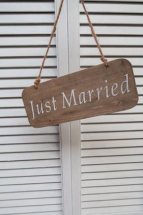 "Panneau ""Just Married"""