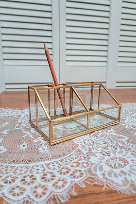 Porte crayons/Support doré