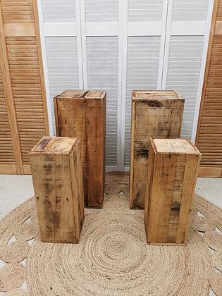 Sellettes en bois naturel