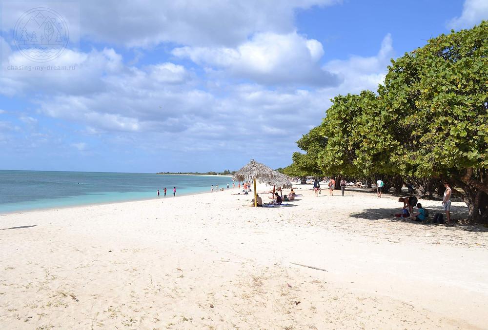 пляж Анкон возле Тринидада, Куба