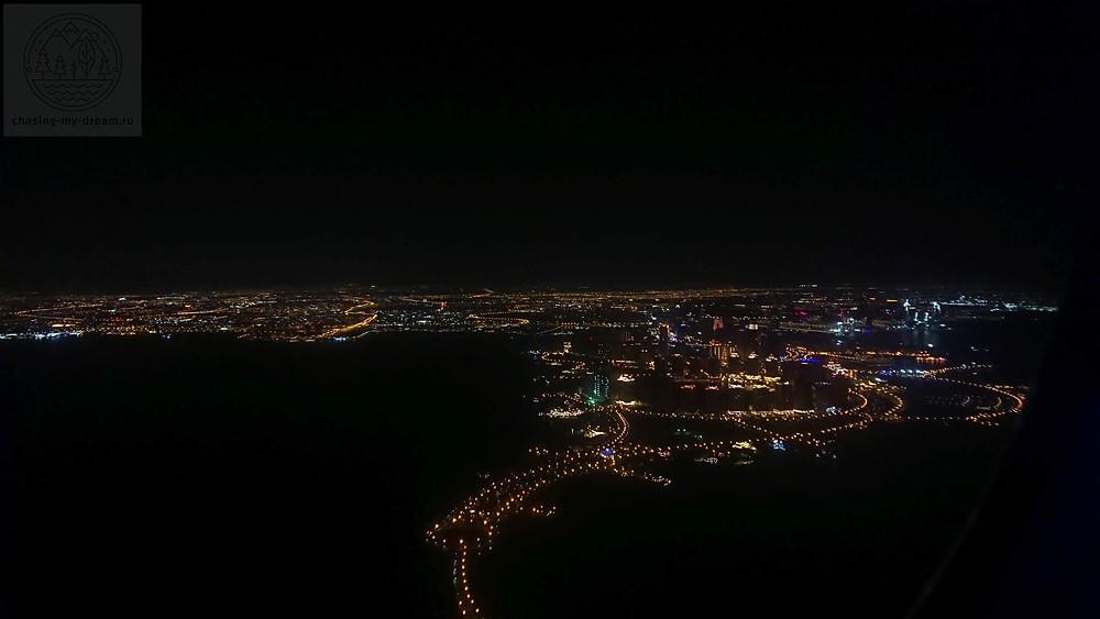 вид на Доху из самолета - самобытно по миру