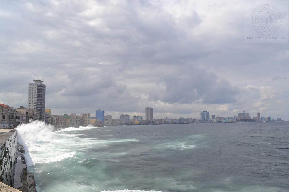 улица Малекон в Гаване - самобытно по миру