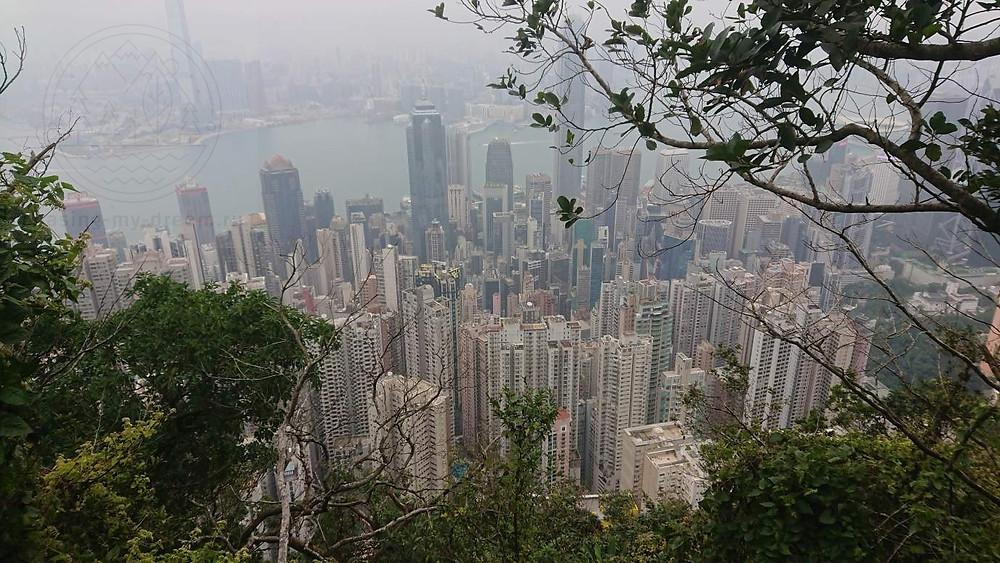 Скайлайн Гонконга с пика Виктория. Мои самобытные путешествия по миру.