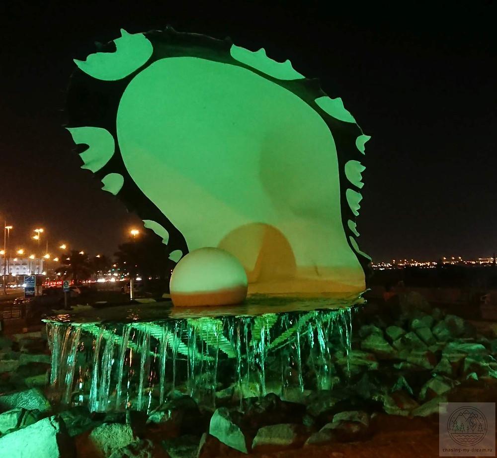 the pearl monument в Дохе - самобытно по миру