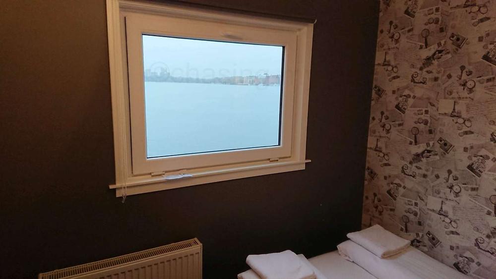 Мой номер в отеле на воде в Стокгольме. Одно их моих самобытных путешествий.
