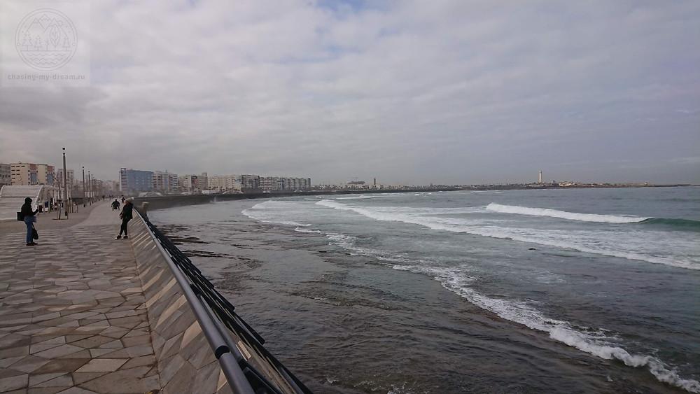 променад вдоль моря в Касабланке - самобытно по миру