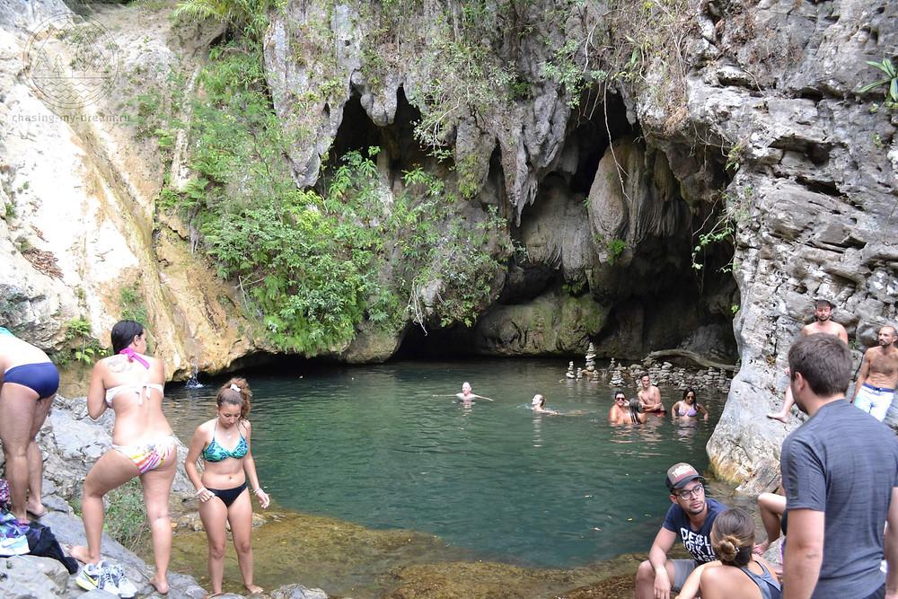 прогулка к водопаду Salto del Caburni, Тринидад, Куба