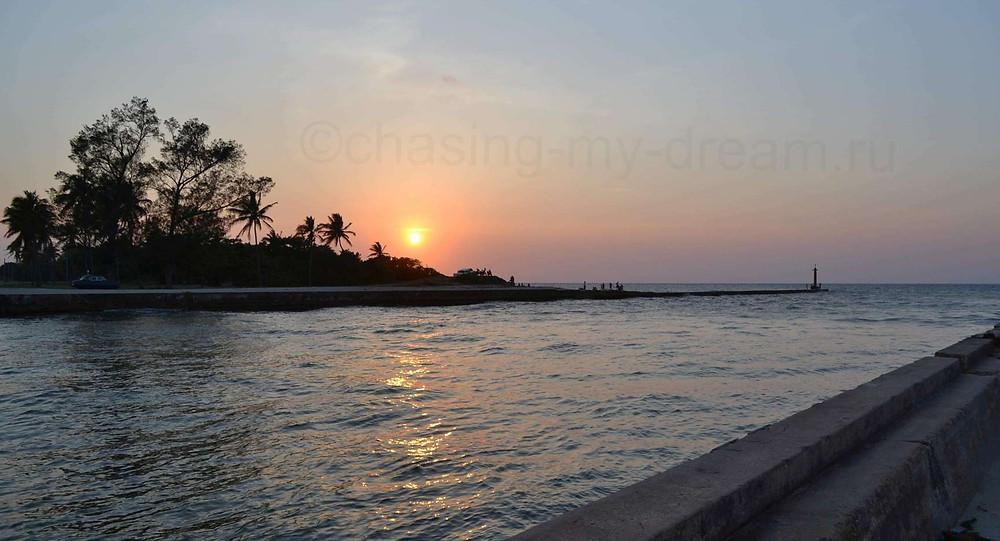 Красивый кубинский закат в Варадеро. Мои самобытные путешествия по миру.