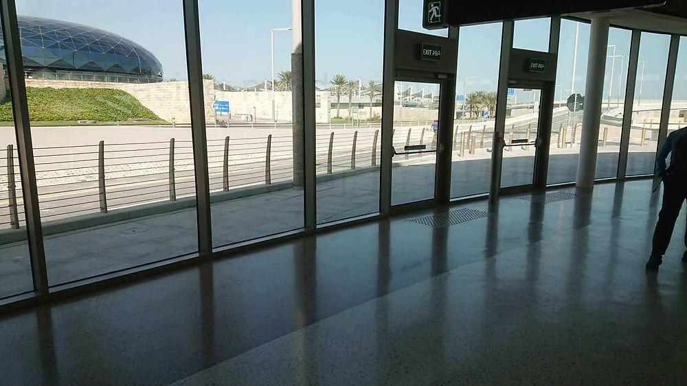 Как пройти в метро из аэропорта Дохи, Катар. Вход в метро.