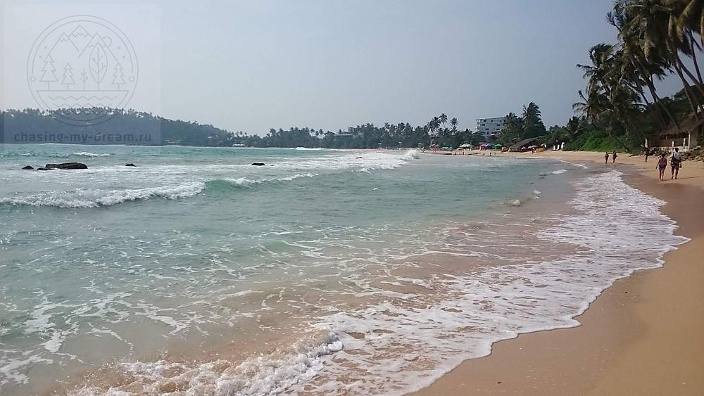 пляж Mirissa beach на Шри-Ланке