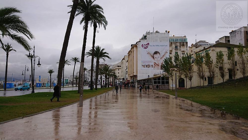 дождь в Танжере - обычное явление зимой