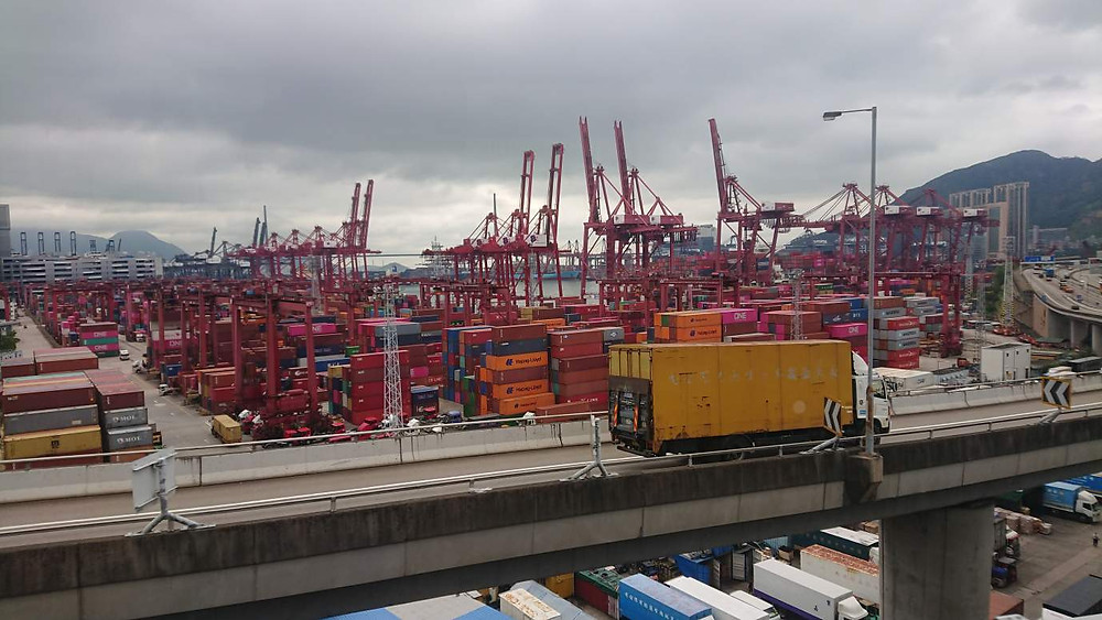 Порт Гонконга -города для самобытных путешествий.