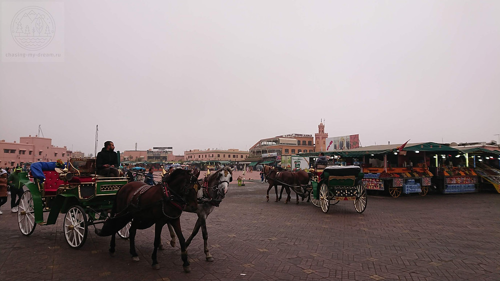 площадь Джема-эль-Фна в Марракеше, самобытное путешествие в Марокко