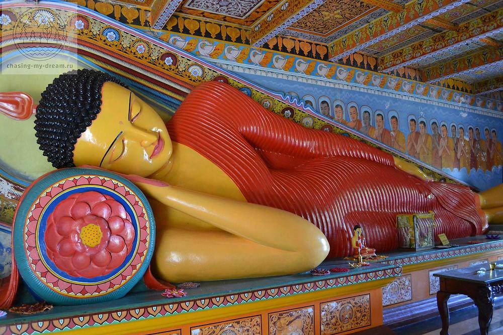 лежащий Будда, Анурадхапура, Цейлон