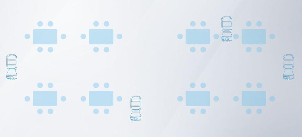 Image of Multiple Service Robots Working Together
