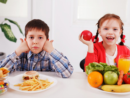 Alimentação das crianças em casa