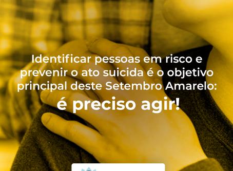 Identificar pessoas em risco e prevenir o ato suicida é o objetivo principal deste Setembro Amarelo