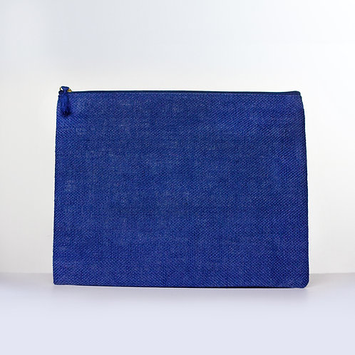 Solid Jute Carry-All (Blue)