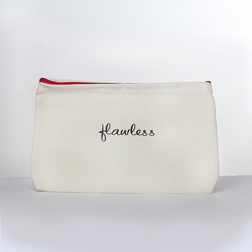 Cosmetic Pouch (Flawless/Red Zipper)