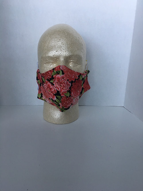 Floral face coverings