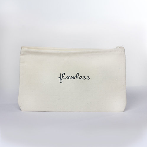 Cosmetic Pouch (Flawless/Ivory Zipper)