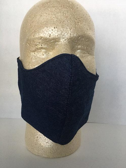 Denim face coverings
