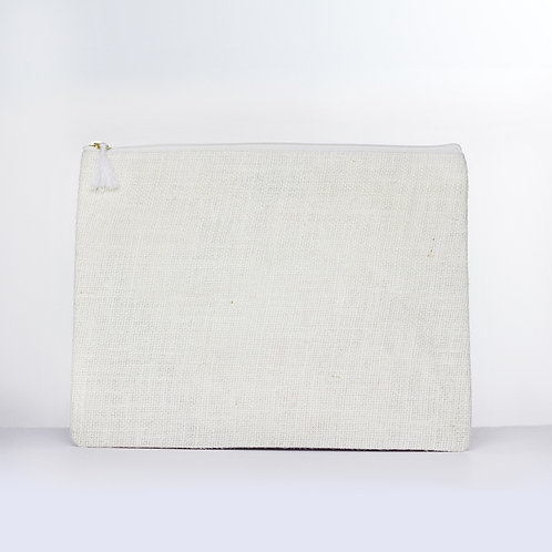 Solid Jute Carry-All (White)