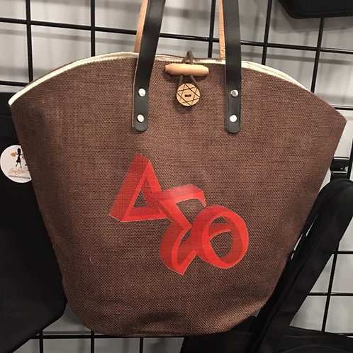 Tote bag w/leather handles