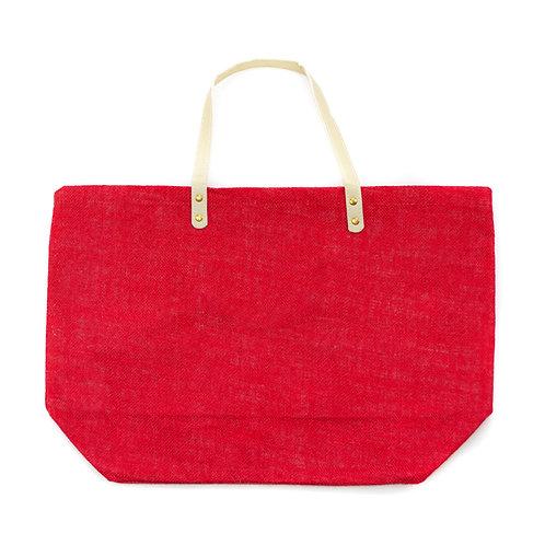 Jute Tote (Red)