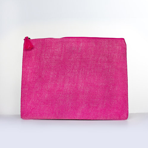 Solid Jute Carry-All (Pink)