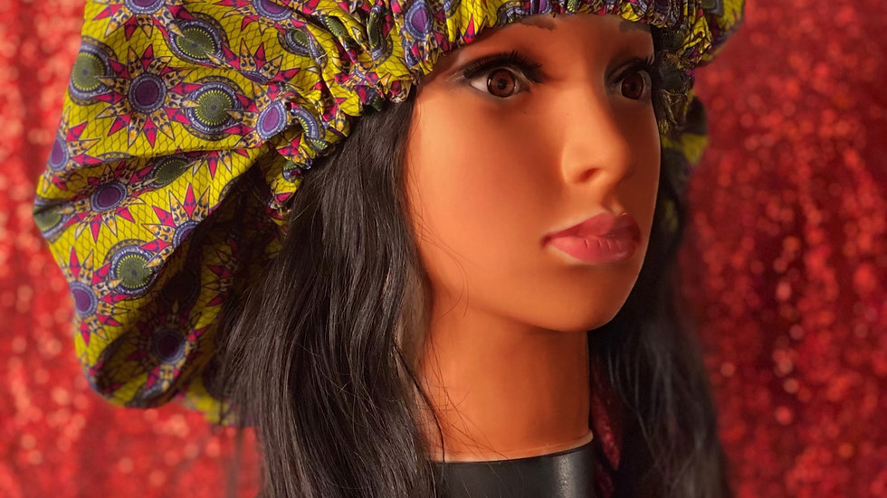 African Print Bonnets