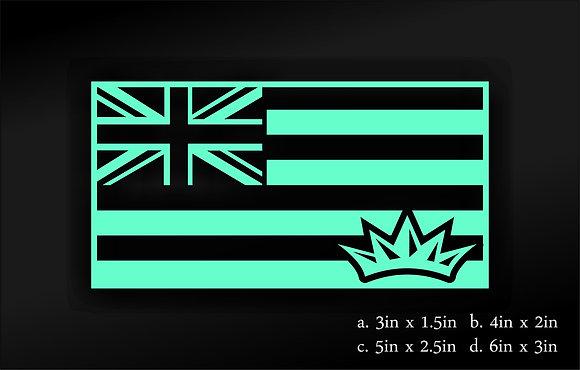 Hawaii Flag (Teal)