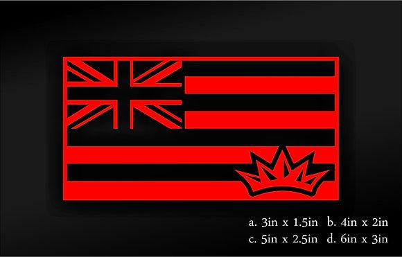 Hawaii Flag (Red)