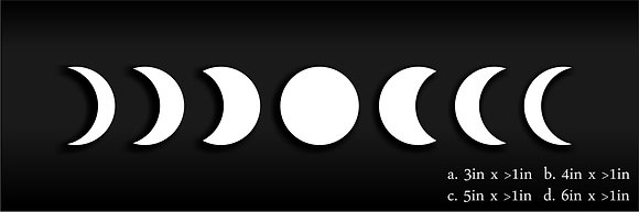 Moon Phase Decal