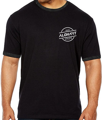 ALOHAFIT BLACK CAMO MENS SHIRTS
