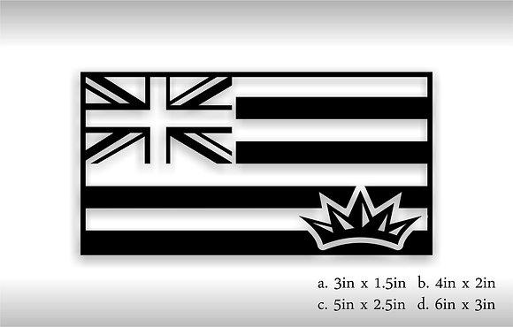 Hawaii Flag (Black)