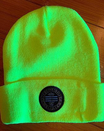 Fluorescent Yellow Beanie