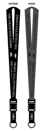 Empire Embroidered Lanyard B/G