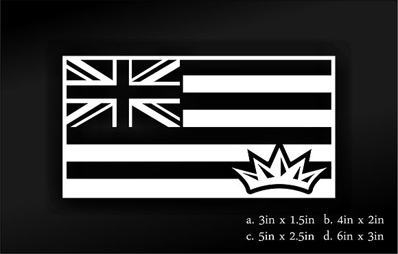 Hawaii Flag (White)