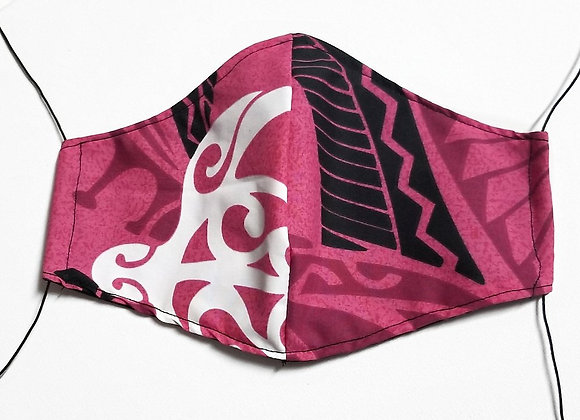 PINK TRIBAL FACE MASK