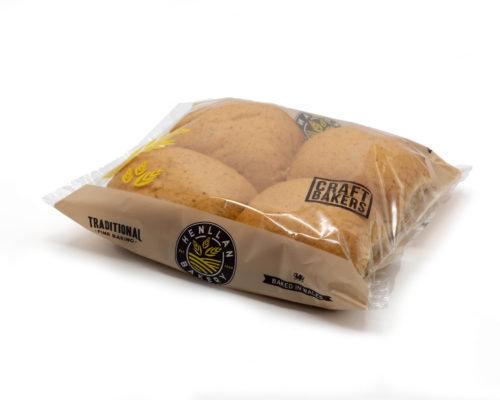 Henllan Bread Brown Baps x 4