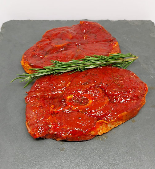 Minted Lamb Leg Steaks