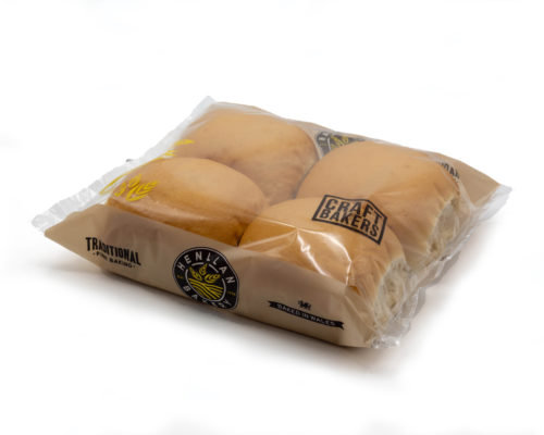 Henllan Bread White Baps x 4