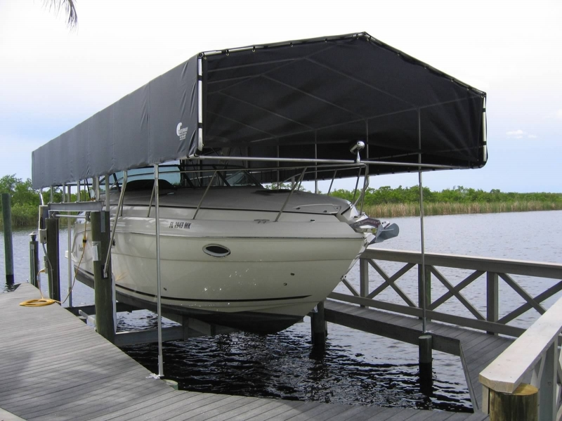 Boat Lift Covers and Canopies by Waterway