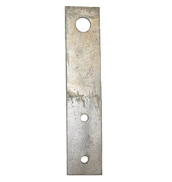 STRAP HANGER 12″ GALVANIZED (FOR WOOD MOUNTING)
