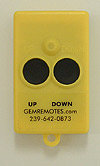 GEM REMOTE CONTROL 3 BUTTON TRANSMITTER