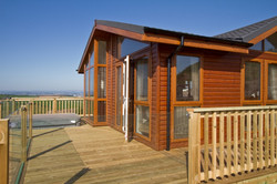 Portable log cabin for sale off site