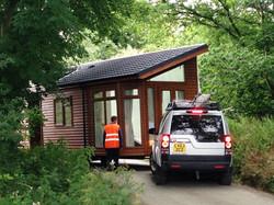 Mobile Log Cabin transportation